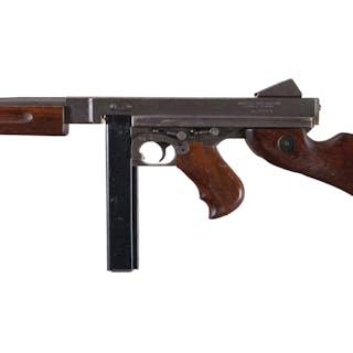 U.S. Auto-Ordnance M1A1 Thompson SMG, Sales Sample, w/Case
