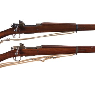 Two WWII U.S. Model 1903A3 Bolt Action Rifles