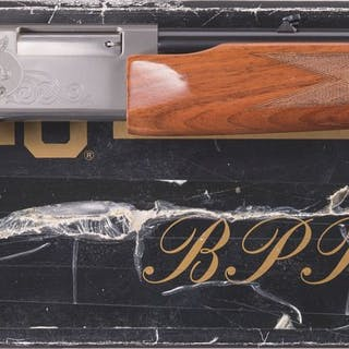 Engraved Browning BPR .22 Magnum Grade II Slide Action Rifle