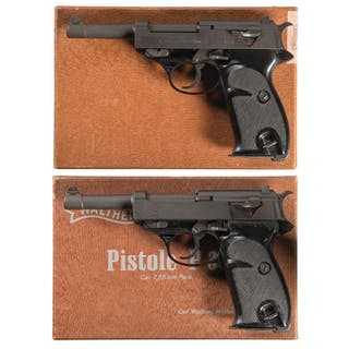 Two Boxed Walther P.38 Semi-Automatic Pistols
