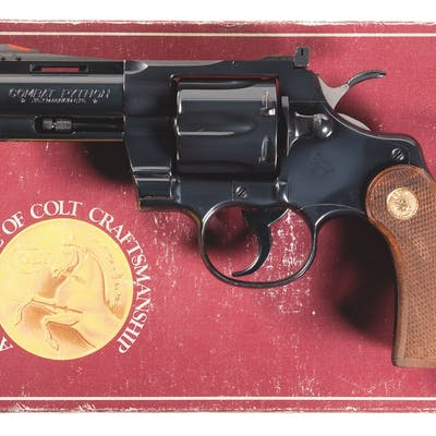 Rare Colt Combat Python Double Action Revolver with Box