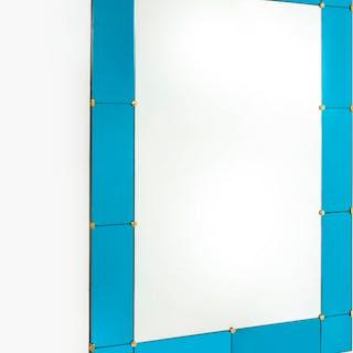 Specchiera con bordo in vetro specchiato colorato