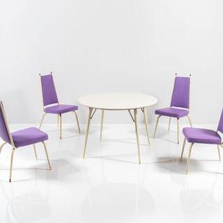 Tavolo con piano in legno laccato