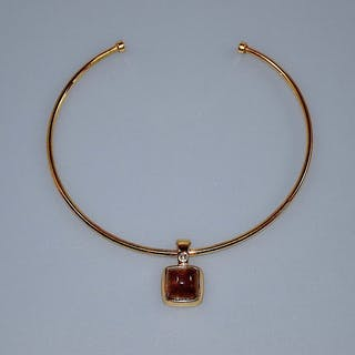 Francesca Romana gilt metal & agate necklace