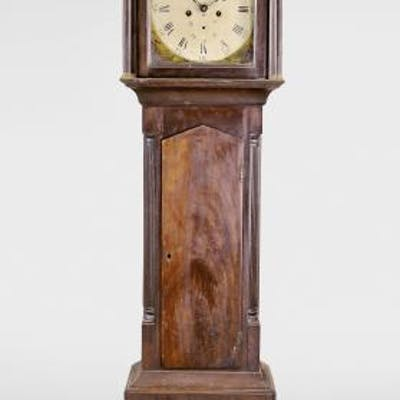 Longcase clock with dial depicting The Black Watch highland regiment
