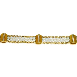 Diamant-Armband mit 0,708ct Diamanten in Weissgold