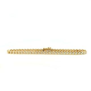Rubin-Armband mit 0,87ct Diamanten und 9,56ct Rubin Carrees in Weißgold
