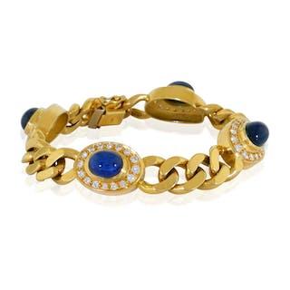 Smaragd-Diamant Armband mit vier Diamanten und vier Smaragden in Weissgold