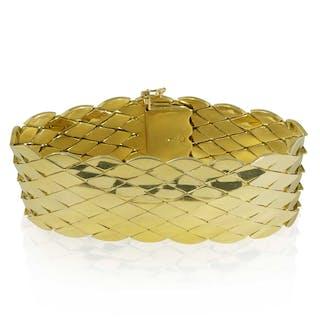 Diamantarmband mit 143 Diamantrosen und Perlchen