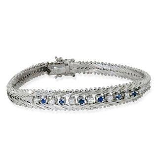 Platinarmband mit 1,97ct Altschliffdiamanten
