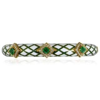 Armband in Gelbgold mit Korallen und 0,505ct Diamanten
