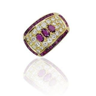 Rubin-Clip,Brosche mit 4,127ct Rubinen und 2,146ct Diamanten