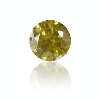 2.18 ct fancy greenish brownish yellow Diamanten Brillant | Diamanten