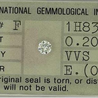 0,20ct Diamant Brillant VVS 2, Color E
