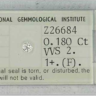 0,180ct Diamant Brillant VVS 2 Color Grade 1+ (F)