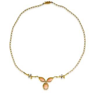 Platin Designer Stabkollier Gold-Platin und 18 Diamanten