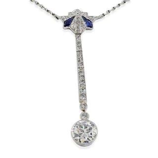 Diamant Riviere mit 5,90ct Diamanten im Mittelteil im Verlauf | Diamantcollier
