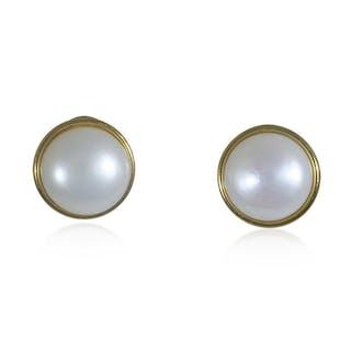 Diamant-Perlen-Ohrclips mit Perlen und 2,46ct Diamanten 18 kt Weißgold
