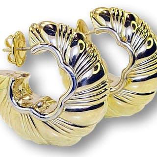 Creolen 18 Kt Gold Ohrringe