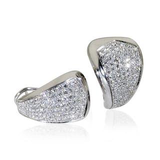 Diamant- Ohrringe, Ohrstecker mit 2,45ct Diamant-Pavee aus 18 kt Weißgold