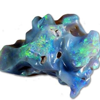 Konvolut aus drei oval geschliffene Opalen, grün, blau und rosé, und