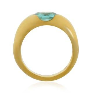 Amethyst-Ring mit 0,30ct Diamanten, 14 kt Gelbgold