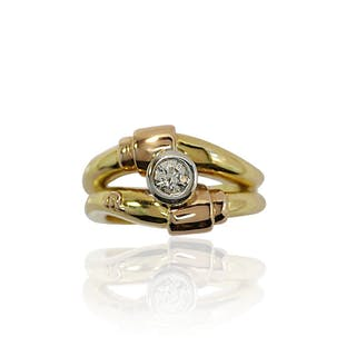 Maurice Lacroix Designer Ring Gelbgoldener Ring mit 0,290ct Diamant