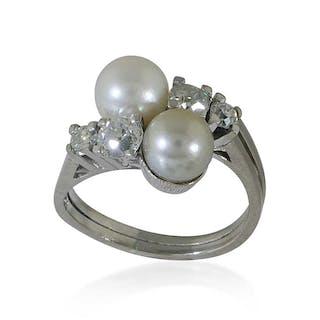 Brillant-Weißgoldring 585 mit 5 Brillanten 0,32ct