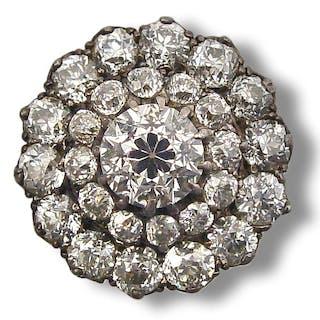 Marquise Diamant-Saphirring mit 1,53ct Altschliffdiamanten und 0,88ct Saphir
