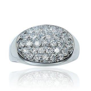 Diamantring in Weissgold mit 0,752ct Diamanten