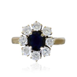 Safir-Diamant-Ring 750 mit 2,471ct Saphiren und 0,136ct Diamanten