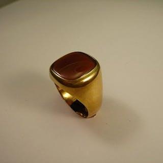 Herrenring Gold 18 Kt, Carneol