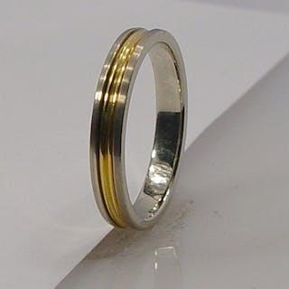 Gold-/Weißgoldring 18 Kt