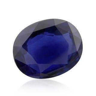 4,85ct Saphir facettiert blau natürlicher stumpf-oval   Safire Safir