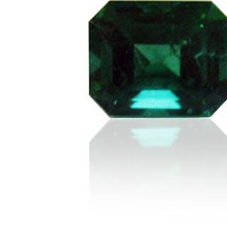 Smaragd 2,86 carat rechteckig facettiert 9.3 x 7.4mm, Smaragdschliff