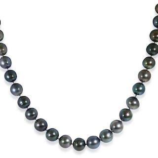 Tahitiperlenkette 9,69mm bis 12,07mm barock Perlen