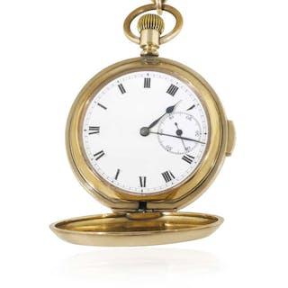 Taschenuhr mit Viertelstundenrepetition und Uhrkette Doublé Uhr
