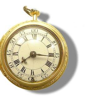 Elegante Schweizer Herren Taschenuhr 585 Gelbgold Jardena
