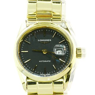 LONGINES Schweizer Damenarmbanduhr in 750 Gold, Automatic