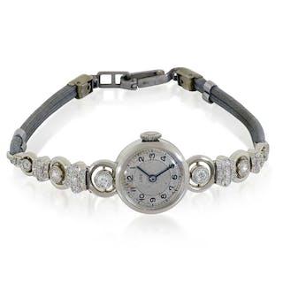 Diamantuhr | Weissgold Damen-Armband-Uhr mit 0,64ct Diamanten | Schmuck