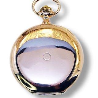 IWC Rarität | Goldene Taschenuhr IWC 375196 Werknummer 345164, 585