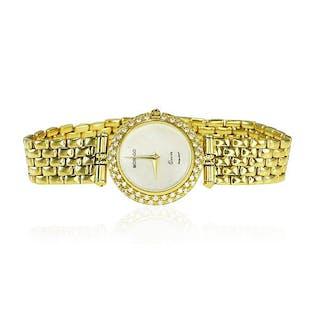 Damenarmbanduhr 750er Gelbgold, mit 57 Diamanten