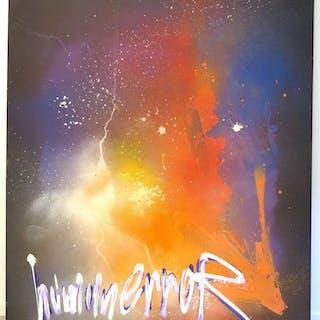 Kanvasmålning – Lee 'Brain' Spångberg (1970-) 'Human Error'