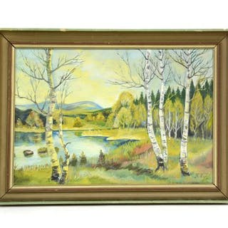 Oljemålning F.V.J 1944