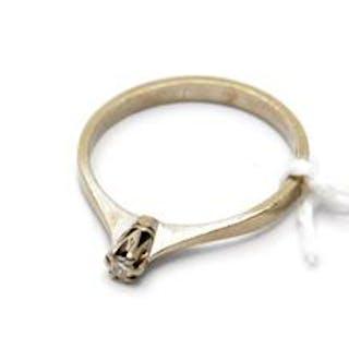 Ring 18K 2g med diamant 0,04ct stl 16 3/4