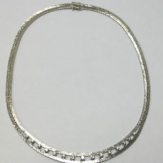 Collier 14K med diamanter