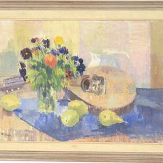 Ragnar Falk (1903-1977), Oljemålning på pannå
