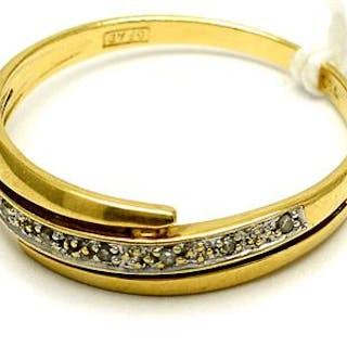 Ring 18K 2,6g Ø18¾, med diamanter 8xca0,005ct åttkantslipade