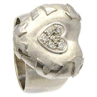 Ring 18K med diamanter Ø17¾