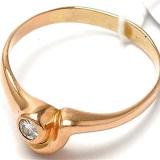 Ring 14K 2,3g, med diamant 1xca0,1ct